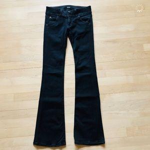 Low-Rise Hudson Black Boot Cut Jeans